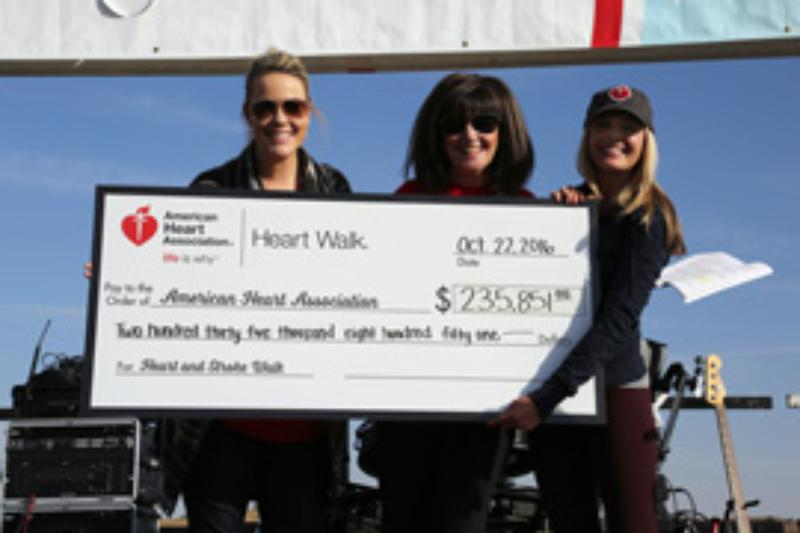 Heart Association Check Presentation