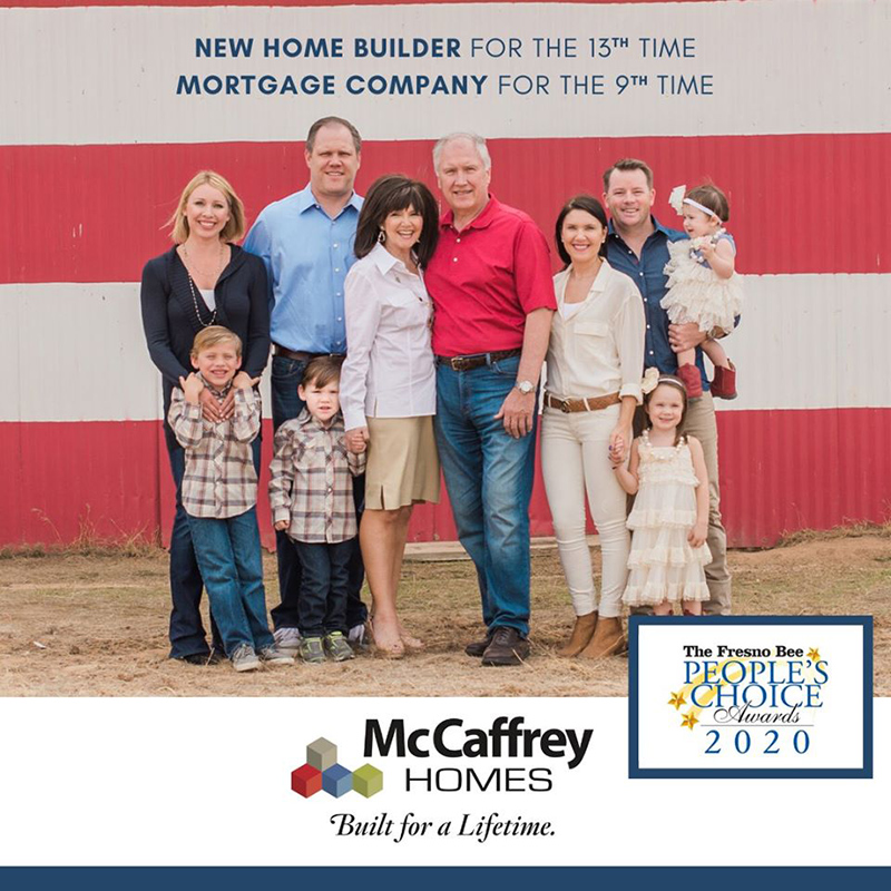 McCaffrey Homes and McCaffrey Home Mortgage win People's Choice Awards