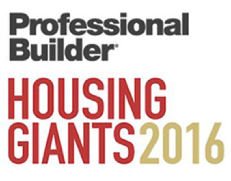 McCaffrey Homes Named a 2016 Housing Giant by Professional Builder Magazine