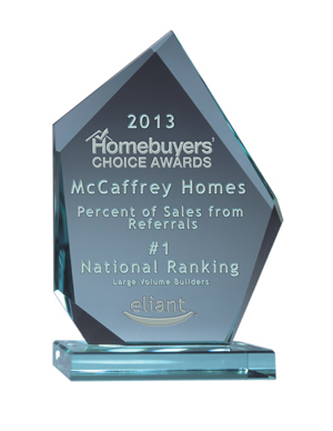 McCaffrey Homes Ranked Number One in Best Overall Home Ownership Experience