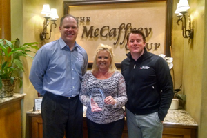 Janel Showers Honored for Ten Years of Success with McCaffrey Homes