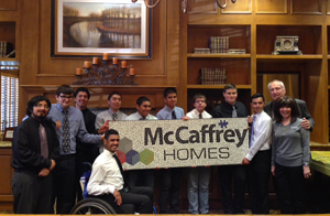 McCaffrey Homes Honored with a Mosaic from Students in the Madera High School Social Skills Autism Class