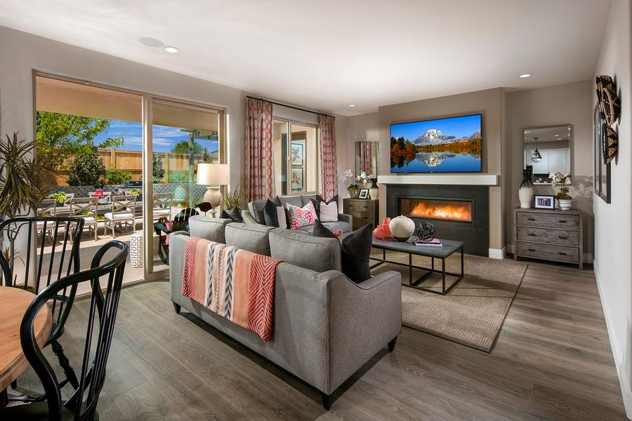 McCaffrey Homes  |  Birch Model Great Room  |  Hickory at Tesoro Viejo