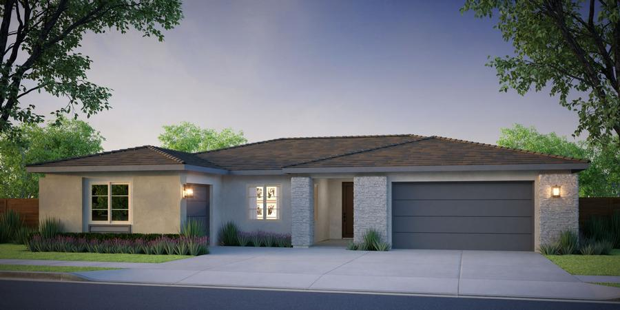 McCaffrey Homes  |  Birch Model Contemporary Rustic Architecture  |  Hickory at Tesoro Viejo